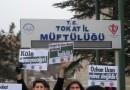 Tokat'ta Özhan Uçan İçin Dayanışma Eylemi