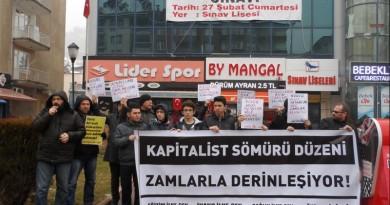 Zamları Protesto Ettik: Kapitalist Sömürü Düzeni Zamlarla Derinleşiyor