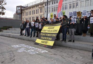 Asgarî Ücret Köleliğine, Tespit Komisyonu Tiyatrosuna Hayır!